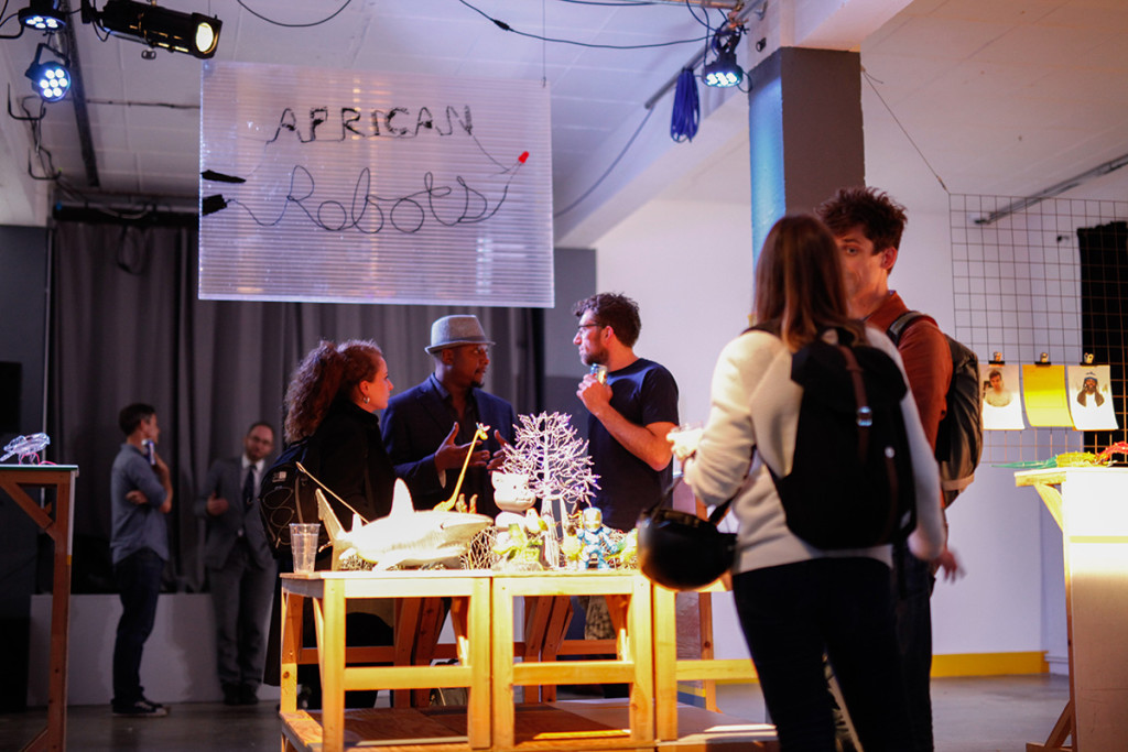 Opening night of 'African Robots' at MachinesRoom