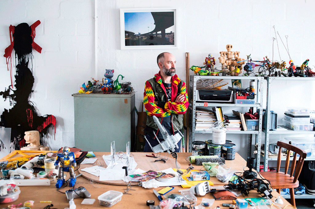 Ralph Borland in studio. Photo by Jansen van Staden for The Lake